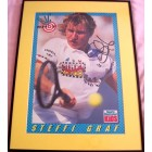Steffi Graf autographed Sports Illustrated for Kids tennis poster matted & framed