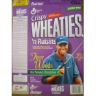 Tiger Woods 1997 Inaugural Edition commemorative Crispy Wheaties 'n Raisins box