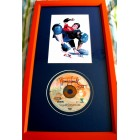 Tony Hawk autographed Pro Skater video game CD matted & framed with 5x7 photo