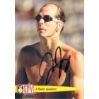 Tom Jager (swimming) autographed Pro Set Guinness World Records card