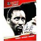 Thomas (Hitman) Hearns autographed Tecate Boxing 8x10 promotional photo