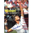 Virginia Wade autographed World Traveler magazine cover