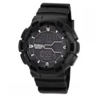 Armitron Mens Black Resin Digital World Time Chronograph Watch