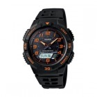 Casio Ana/Digi Solar Powered Watch Black Resin Band