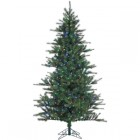 Fraser Hill Farm 7.5 Ft. Southern Peace Pine Christmas Tree with Multi-Color LED String Lighting